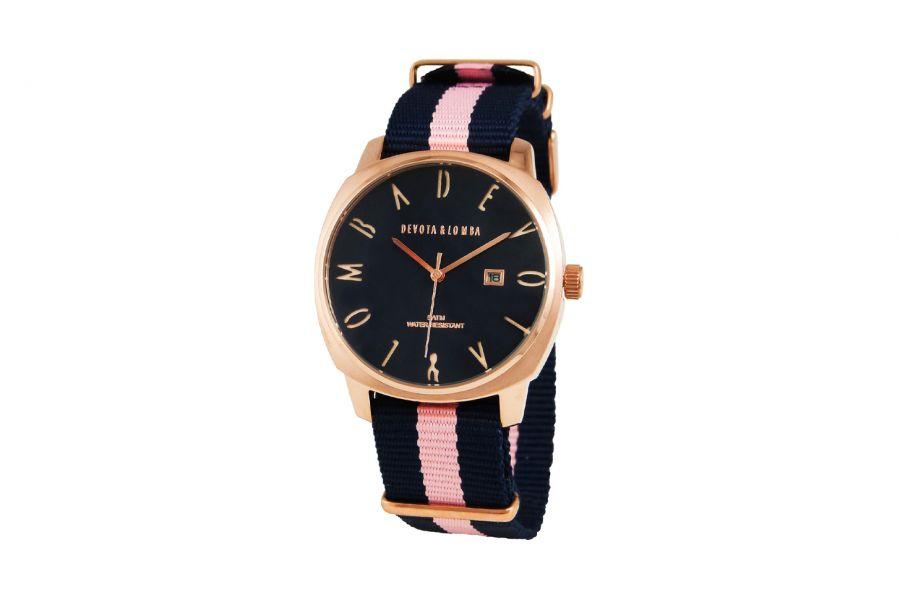 Devote & Lomba DL008MSPBL-PK-03BLUE Unisex Horloge 42mm 5ATM