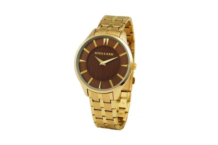 Devote & Lomba DL012M-02BROWN Heren Horloge 40mm 5ATM