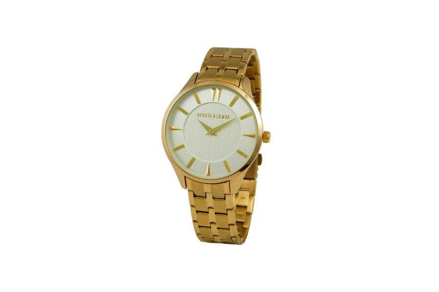 Devote & Lomba DL012M-02WHITE Heren Horloge 40mm 5ATM