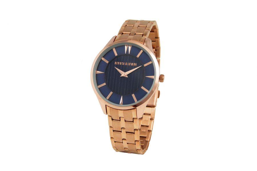 Devote & Lomba DL012M-03BLUE Heren Horloge 40mm 5ATM