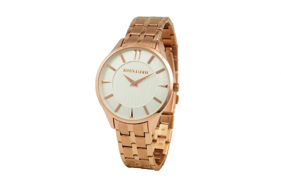 Devote & Lomba DL012M-03WHITE Heren Horloge 40mm 5ATM