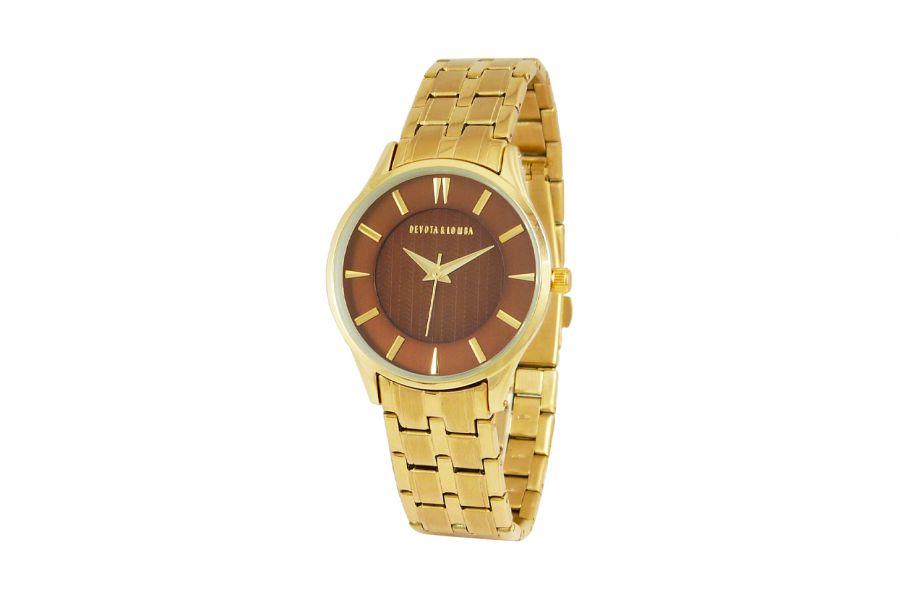 Devote & Lomba DL012W-02BROWN Dames Horloge 35mm 5ATM