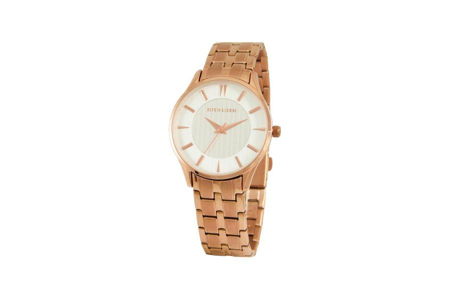 Devote & Lomba DL012W-03WHITE Dames Horloge 35mm 5ATM