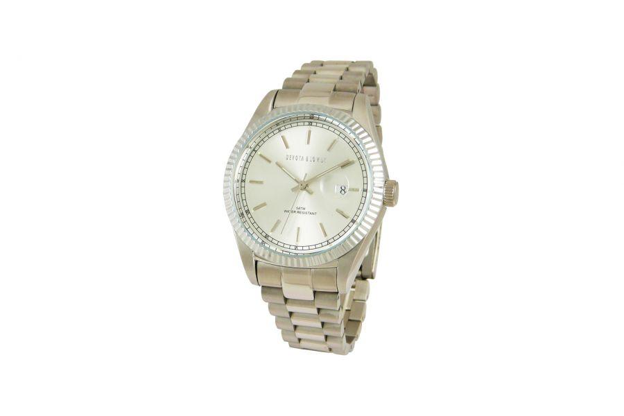 Devote & Lomba DL013M-01WHITE Heren Horloge 40mm 5ATM