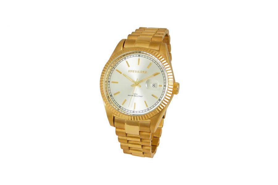 Devote & Lomba DL013M-02WHITE Unisex Horloge 40mm 5ATM
