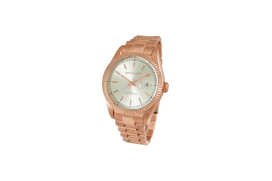 Devote & Lomba DL013M-03WHITE Unisex Horloge 40mm 5ATM